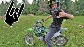 LEARNING TO RIDE A DIRT BIKE!