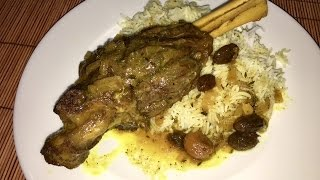 How to Cook Persian Braised Lamb Shanks with Saffron.