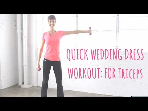 Xxx Mp4 Wedding Dress Workout 7 Minutes To Toned Triceps Sexy Shoulders 3gp Sex