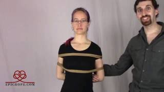 Beginner | Rope Bondage Tutorial: 75% of all Shibari Bondage a.k.a. The Ladder Tie