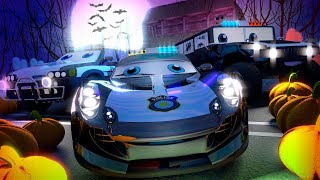 Halloween Night Cars |  Videos For Kids by Little Treehouse | Kindergarten Nursery Rhymes