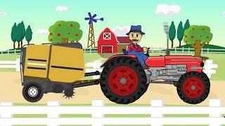 ☻ Farmer Farm Work   Straw - Bajki Traktorek - Prace Rolnika ☻
