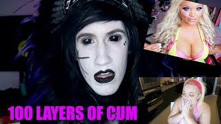 Goth Reacts to 100 Layers of Cum (Trisha Paytas)