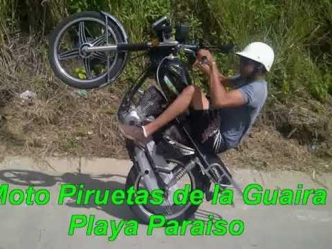 MOTO PIRUETAS DE LA GUAIRA EN PLAYA PARAISO Junior Pirueta