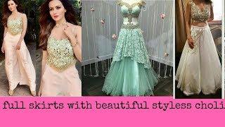 full skirt with beautiful  styless choli