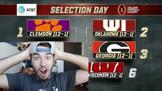 Reacting to the FINAL College Football Playoff Rankings