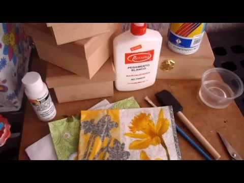 como decorar con Decoupage servilletas decoradas