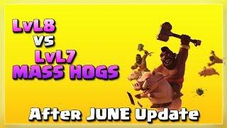 LvL8 vs LvL7 Hogs: Mass Hogs | After JUNE Update | TH12 War Strategy #05 | COC 2018 |