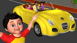 Driving in My Car Song | We Are Going in Our Car - 3D Nursery Rhymes & Songs for Children