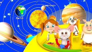 The Solar System Song | Kindergarten Nursery Rhymes & Songs for Kids | Little Treehouse S03E27
