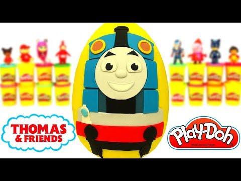 Ovo Surpresa Gigante de Thomas e Seus Amigos em Português Brasil de Massinha Play Doh