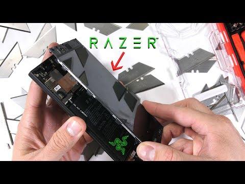Razer Phone Teardown HUGE Heat Pipe tiny vibrator