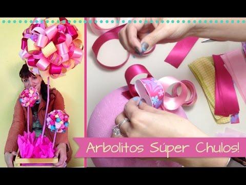 Chuladas Creativas Arbolitos Decorativos Centros de Mesa Baby