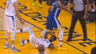 Draymond Disrespects Patrick Beverley By Trying To Walk Over Him & Gets A Technical Foul!