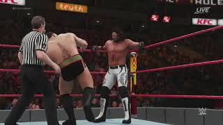 WWE Extreme Rules 2018 AJ Styles vs Rusev WWE Title Full Match Sim (WWE 2018)