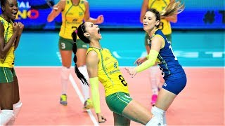 50 touches   LONG RALLY Brazil vs China   Amazing Saves in Volleyball