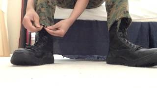 How to properly blouse your boots (rothco BDUs)