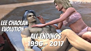 TEKKEN SERIES - All Lee Chaolan Character Ending Movies 1996 - 2017 (1080p 60fps)