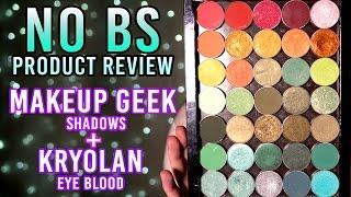 No BS Product Review -- Makeup Geek Eyeshadows & Kryolan Eye Blood