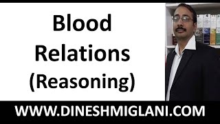 Blood Relations (Reasoning) Concepts by Dinesh Miglani
