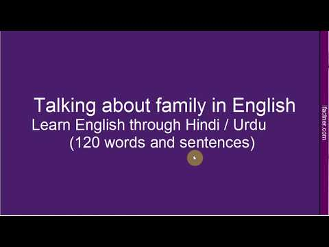 Speaking English About Family - Learn English Through Hindi - How to talk about Family? अंग्रेज़ी