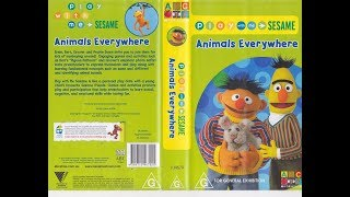 Play With Me Sesame Animals Everywhere Australian VHS 2006