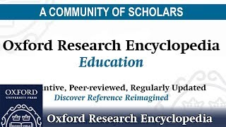 Oxford Research Encyclopedia: Education