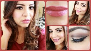 ♥My Everyday Makeup Routine - Matte lips & Winged Liner♥