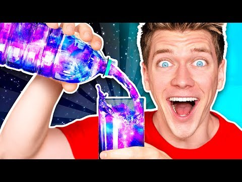 Spooky DIY Science Experiment w Slime Food & How To Make Mystery Liquid Glow Challenge