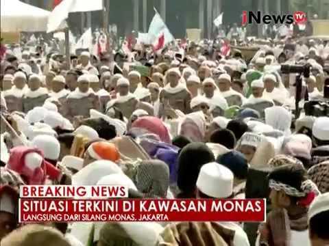 Beritangetop Peserta aksi damai 212 Lagu Indonesia Raya Menggema