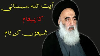 Message of Ayatollah Sayed Ali Sistani  آیت اللہ سیستانی کا پغام by maulana mukhtar hussain ghaffari