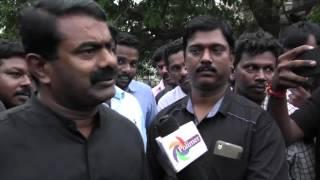 ICF உண்ணாநிலை போராட்டத்தில் சீமான் 18-11-2015 | Seeman took part in a ICF Apprentices Hunger Strike