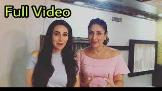 Kareena Kapoor Khan and Karisma Kapoor's Amazing video for promoting Adaar Jain|Full Video