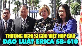 Thượng nghị sĩ gốc Việt Janet Nguyễn họp báo về đạo luật SB-610