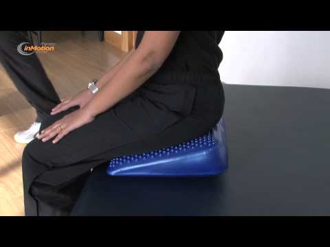 How to use the Therapy in Motion Inflatable Wedge Posture Cushion with pump