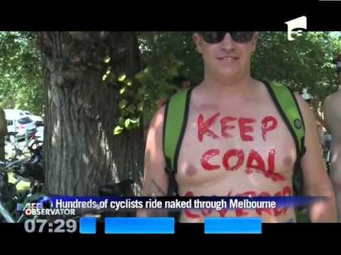 Protest nud pentru ecologie