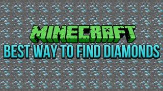 Best Way To Find Diamonds Minecraft 1.9 & 1.8 Tutorial