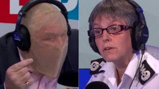 Nick Ferrari Wears Spit Hood During Fiery Interview With Met Police Commissioner
