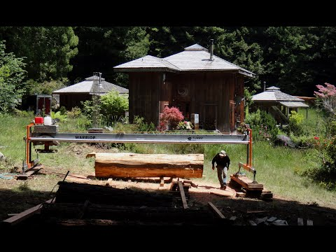 He s back at it again Milling Dimensional lumber from Redwood logs with a Turbo Sawmill
