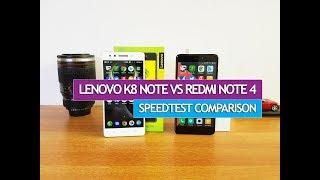 Lenovo K8 Note vs Xiaomi Redmi Note 4- Speedtest Comparison