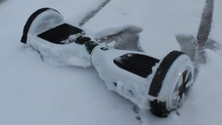 HOVERBOARD SWEGWAY IN SNOW STORM (Drifting)