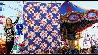 "County Fair ""Scrappy Squares"" Blue Ribbon Quilt!!"