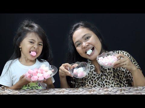 chubby bunny challenge indonesia - makan marshmellow sampai muntah- little princess shinta