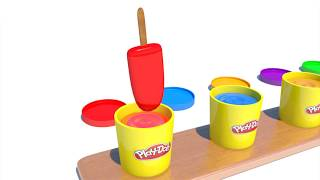 Learn Colors with Play Doh pots video for kids