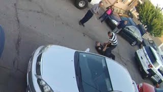 Video shows cop, suspect in brawl before shooting