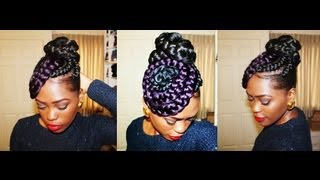 Putting My Thought Into Action: Braided Bun N Swirls