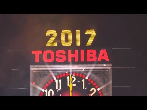 2016-2017 New York City Times Square Ball Drop (clean feed)