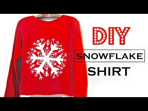 DIY Snowflake Shirt | How to Make Easy Christmas Gifts