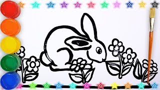 Glitter How To Draw _ Drawing and Coloring Rabit easy for kids || Draw Kids