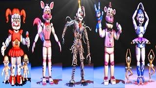 Five Nights at Freddy's: Sister Location All Animatronics | Secret Animatronic [EXTRAS]